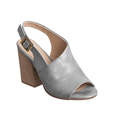 c211a2529ca Antelope Women s 774 Pewter Metallic Leather Off Center High 36