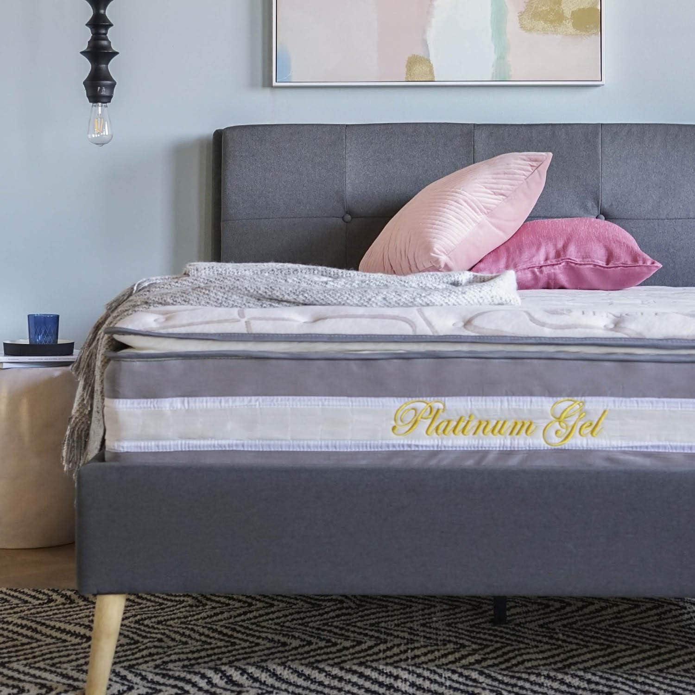 Swiss Ortho Sleep High Density 13-inch Hybrid Memory Foam and Innerspring Mattress with Plush Pillow Top Full