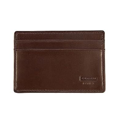 premium selection 55e5d e681c Amazon.com: Coach 4665 Water Buffalo Leather Money Clip Card Case ...
