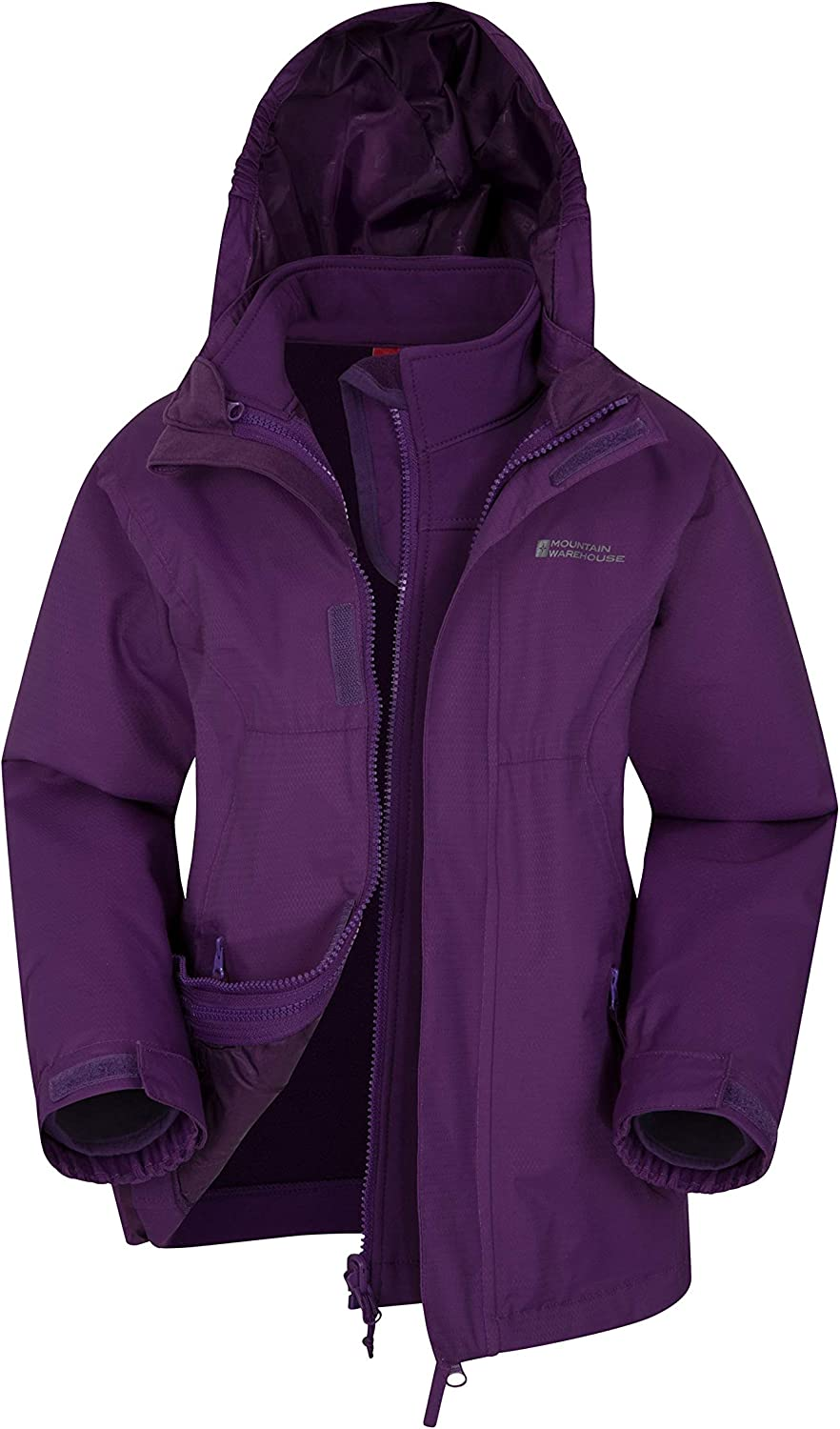 Mountain Warehouse Bracken 3 in 1 Kids Waterproof Jacket - Triclimate