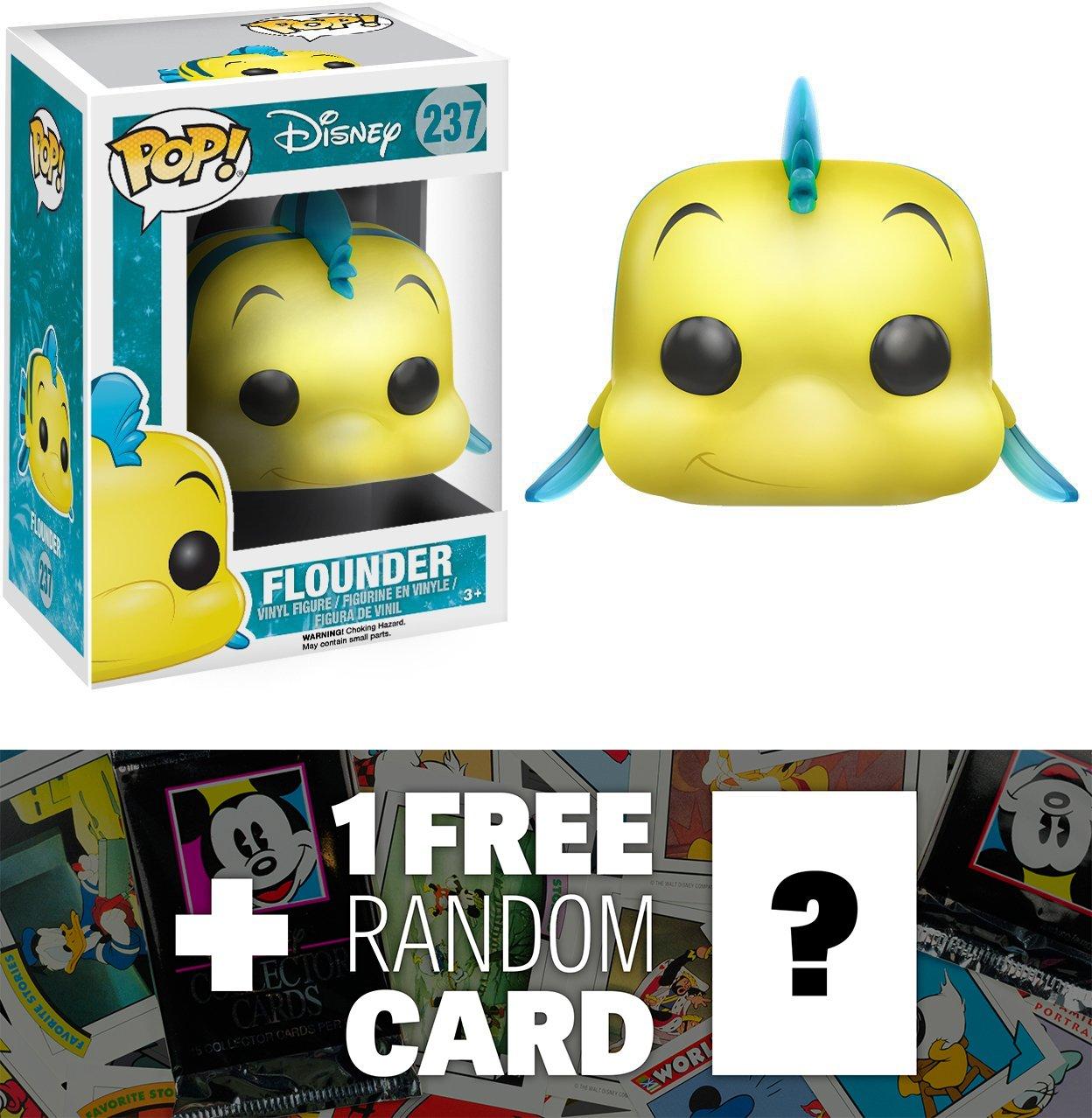 x Disney The Little Mermaid Vinyl Figure Flounder: Funko POP BCC94GZ9 1 FREE Classic Disney Trading Card Bundle 117388