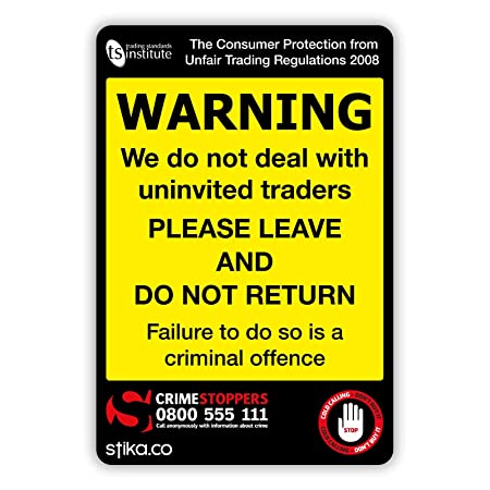 stika co trading standards cold calling uninvited traders warning