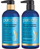 PURA D'OR Hair Thinning Therapy Shampoo & Conditioner for Best Results