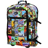 Cabin Max Lyon Flight Approved Bag Wheeled Hand Luggage - Carry on Trolley Backpack 44L 55x40x20cm (Postcard)
