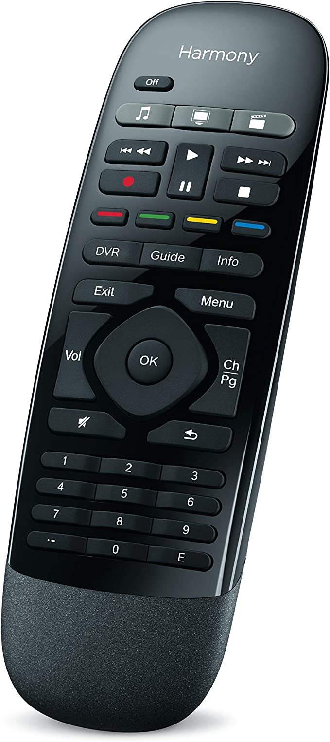 Black Logitech Harmony Smart Control with Smartphone App and Simple All in One Remote