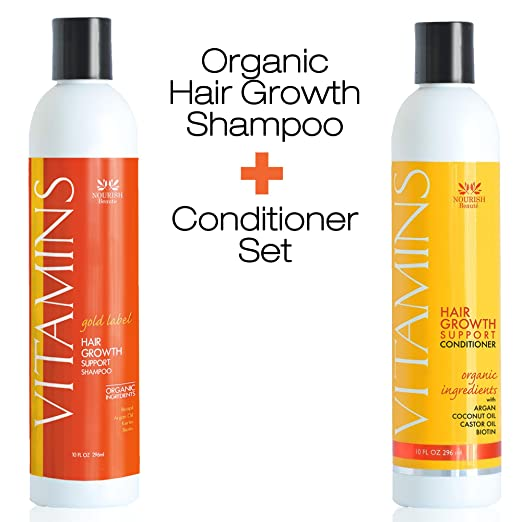 NEW! PREMIUM Vitamins Hair Growth Shampoo and Conditioner