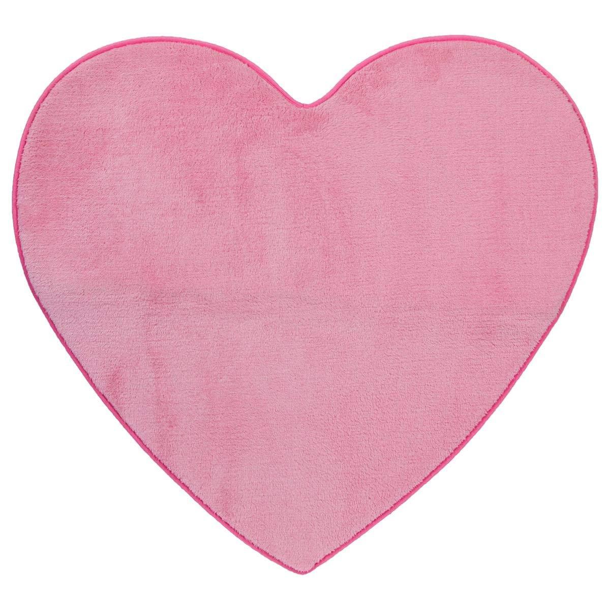 Tappeto in microfibra per la cameretta dei bimbi - Forma: cuore - Colore: ROSA ATMOSPHERA