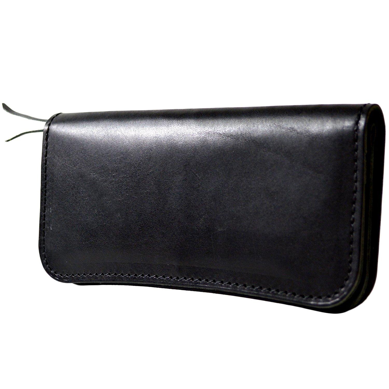atelierCODEL 栃木レザー 長財布 日本製 ヌメ革 メンズ B06X1FB3FL ブラック ブラック