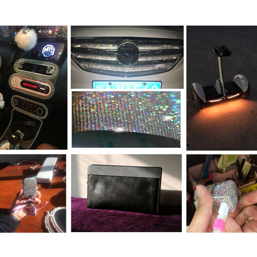 Sliver YGMONER 9000pcs Bling Crystal Rhinestone 9.4 x 7.9 DIY Car Decoration Sticker
