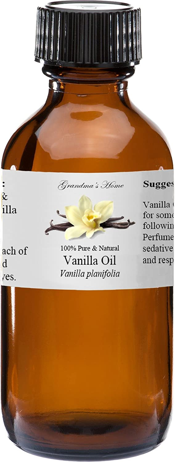 Vanilla Oil Essential Oil - 2 fl oz -100% Pure and Natural - Therapeutic Grade - Grandma's Home