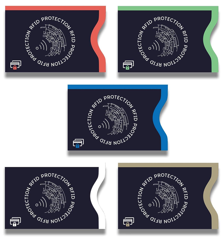 cartes identit/é ec couvertures de couverture 5 pi/èces Lebama tuv certifi/é et nfc cas bloqueur cartes de cas pour les cartes de cr/édit