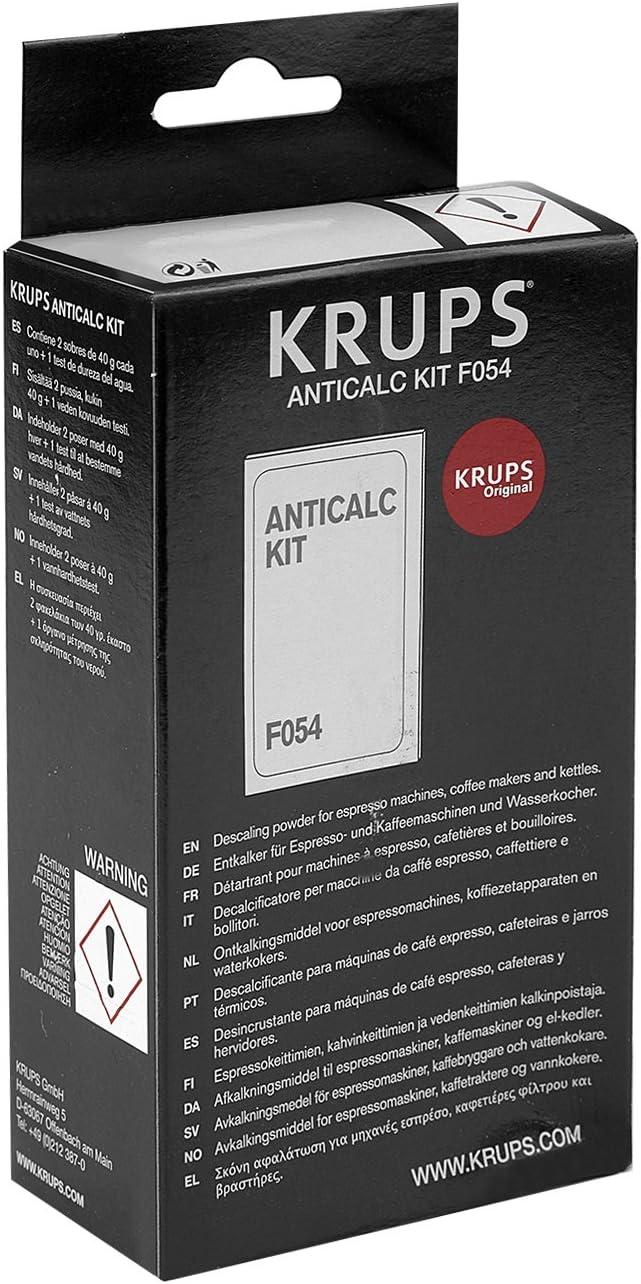 Krups Anticalc Kit* F054 antical, cal, cal limpiador, 5 Pack ...