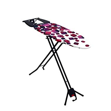 Mabel Home Space Saving Ironing Board, Easy Storage, Adjustable Height + Extra Cover