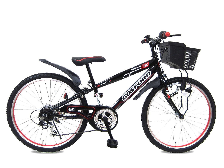 24インチ ゴスフォード 6段変速 組み立て式自転車 B07BW8GFT6ブラックレッド