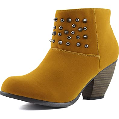 Women's Priority-46 Western Cowboy Spike Ankle Bootie Round Toe Boots