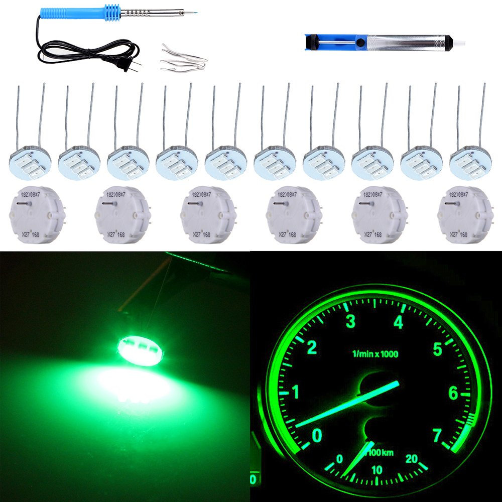 CCIYU 20Pcs 4.7mm-12v Car White Mini Bulbs Lamps Indicator Cluster Speedometer Backlight Lighting Replacement fit for GM GMC 993989-5210-1738582
