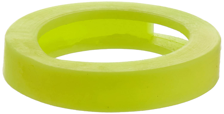 Bulk Hardware BH04011 Key Cap Identifier Rings, Plastic - Fluorescent Yellow, Pack of 10