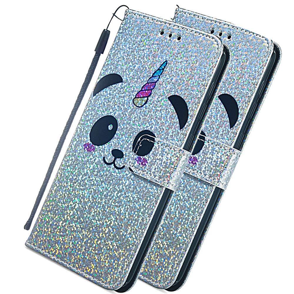 COTDINFOR Case pour Galaxy A10 Coque Portefeuille Cr/éatif Peinture Peint PU Leather Antichoc Magn/étique Portefeuille /Étui en Cuir Flip Stand Shell Bumper Housse pour Samsung M10 Dazed Panda TX-CH.