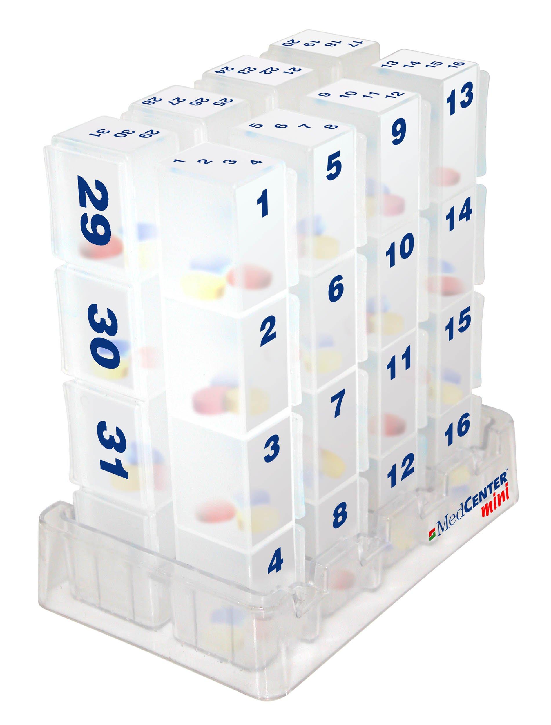 MedCenter 31 Day Mini Pill Organizer