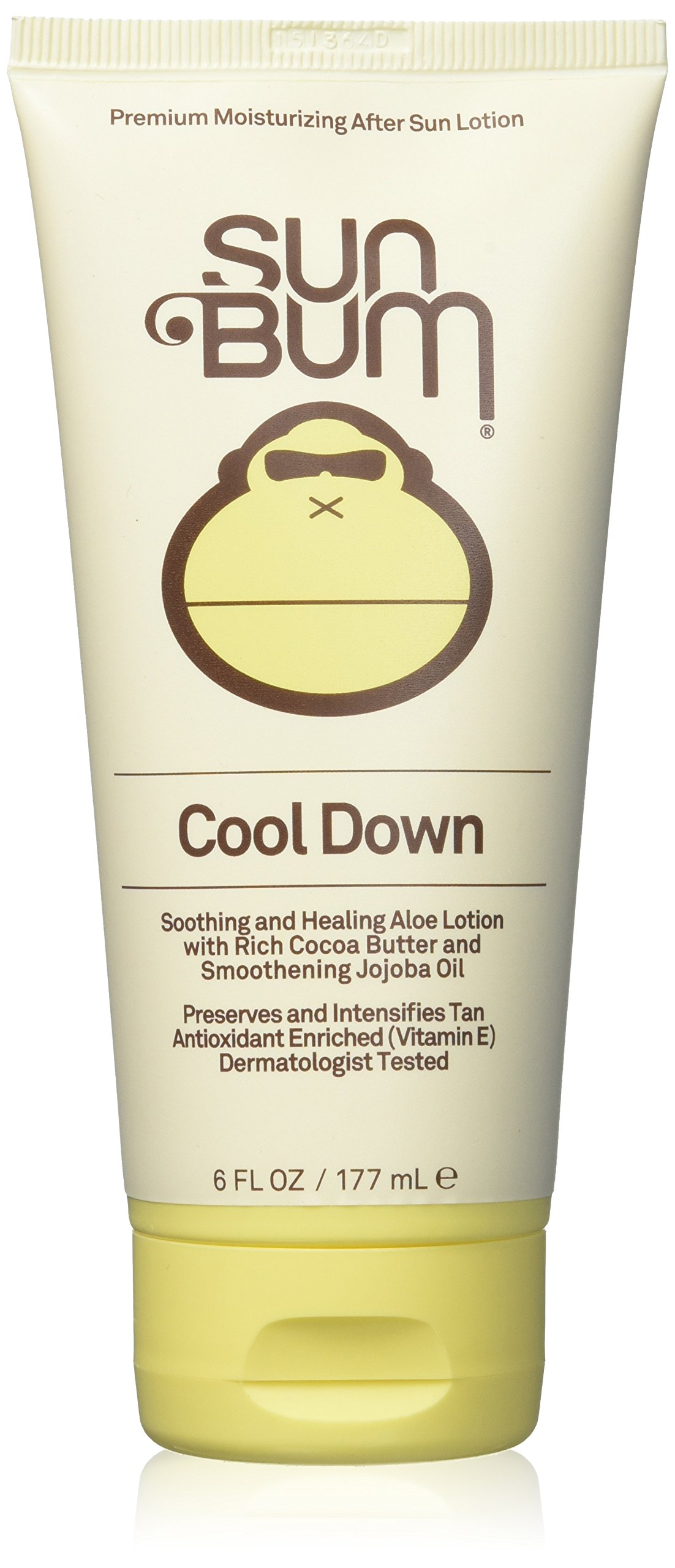 Sun Bum Cool Down Hydrating After Sun Lotion with Hydrating Aloe,Cocoa Butter and Vitamin E|Moisturizing Sun Burn Relief| Hypoallergenic, Gluten Free,Vegan|6ozTube by Sun Bum