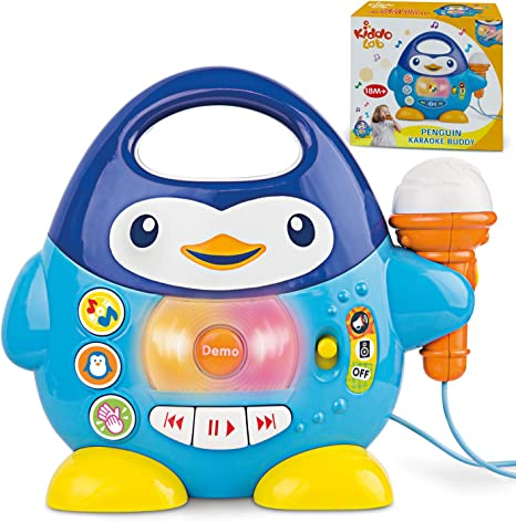 Penguin Karaoke Buddy - Toy with Microphone, Music Player with Preset Melodies and Echo Effect
