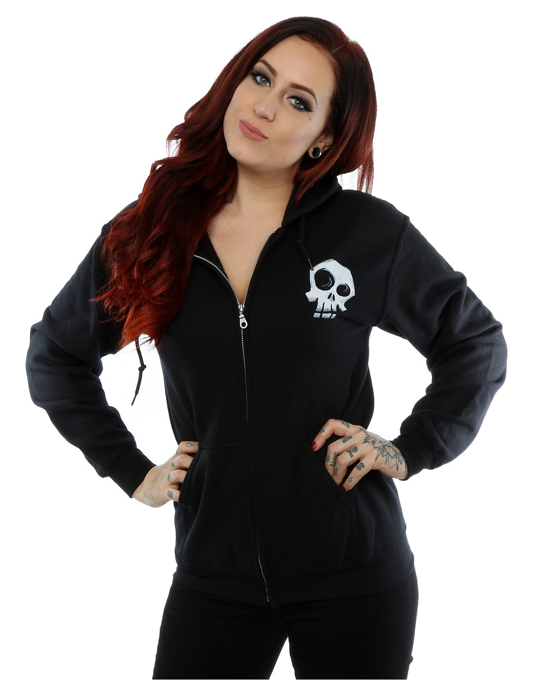Disney Women's Nightmare Before Christmas Misfit Love Zip Up Hoodie X-Large Black