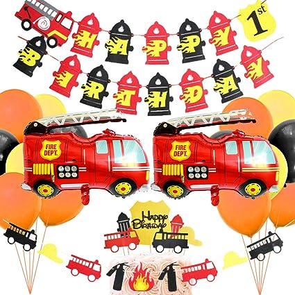 Amazon.com: Fuego camiones suministros de fiesta ...