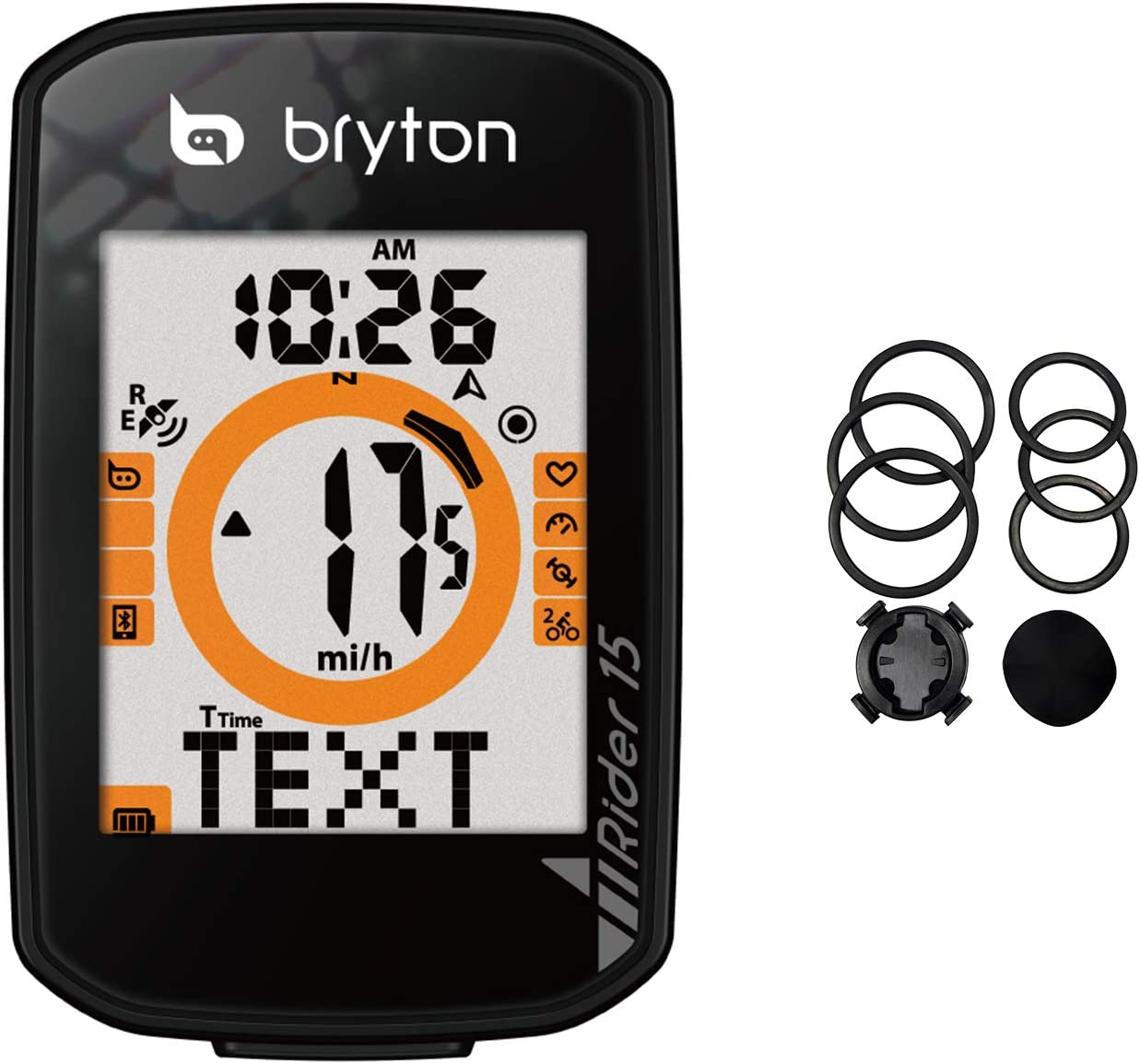 Bryton Rider 15 GPS Cycle Computer. Your First GPS Bike Computer, Ease of use, no Complicated Setup. Compatible to BLE sensors, 30 Features Supported.