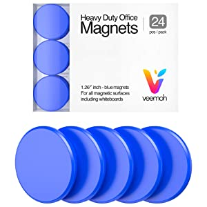 24-piece Veemoh Heavy duty Office magnets pack - Office, Kitchen, Refrigerator, Whiteboard magnet set