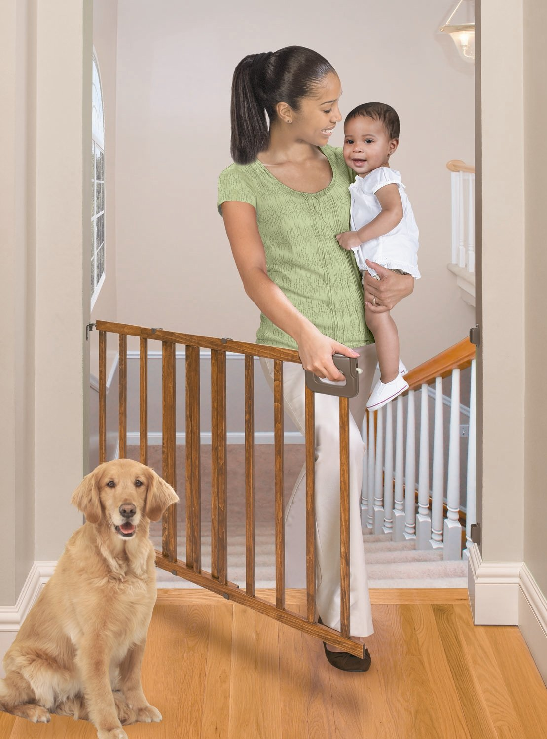 summer infant stylish and secure deluxe wood stairway gate na   - summer infant stylish and secure deluxe wood stairway gate na packamazonca baby