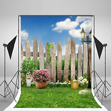 A 5 X 7ft Spring Photography Backdrops Lawn Garden Backdrop Party Sunny Blue  Sky Photographic Background For