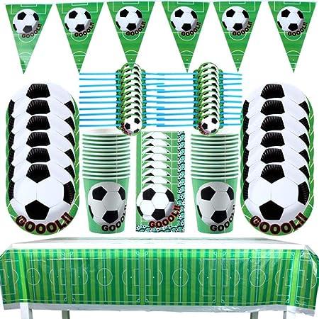 SAKUROO 61 Unids/Lote Tema de Fútbol Fiesta de Cumpleaños ...