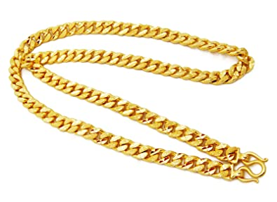 Mens Deluxe Chain 22k 23k 24k Thai Baht Gold Gp Necklace 28