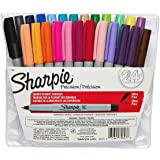 Sharpie Permanent Markers, Ultra Fine Point, Assorted Colors, 24-Count 2-Pack