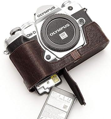 Genuine Real Leather half Camera Case bag cover for Olympus OM-D EM10 10 colors