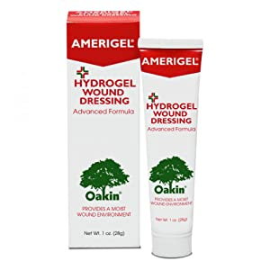 AMERIGEL Hydrogel Wound Dressing, Helps to Manage Pressure Ulcers Stages I-IV, Stasis Ulcers, Diabetic Skin Ulcers, Skin Irritation, First and Second-Degree Burns, Cuts and Abrasions, 1 oz. Tube