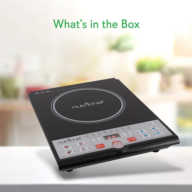 NutriChef portátil 120 V eléctrica vitrocerámica cocina de ...