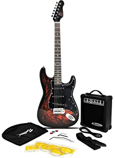 Jaxville Demon ST Style Electric Guitar Pack With Amp Gig Bag Strings Strap