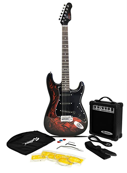 Paquete de guitarra eléctrica estilo Jaxville Demonio ST