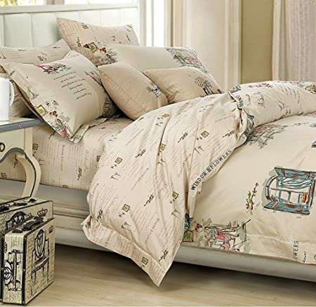 french country cottage style duvet cover bedding set novelty drawing rh amazon co uk