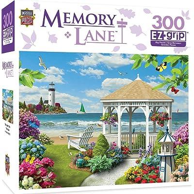 MasterPieces Memory Lane Oceanside View 300 Piece EZ Grip Jigsaw Puzzle: Toys & Games