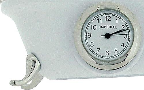 W M Widdop Miniature Vintage White Bathtub Quartz Movement Novelty Collectors Clock IMP1101