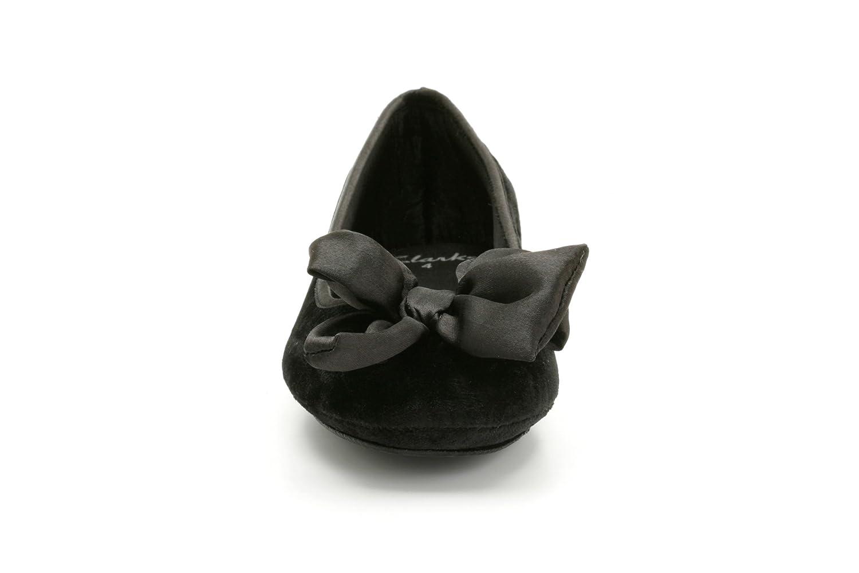 40bd0c348a2 Clarks Ladies Slippers Velvet Night - Black Fabric - UK Size 5D - EU Size 38  - US Size 7.5M  Amazon.co.uk  Shoes   Bags