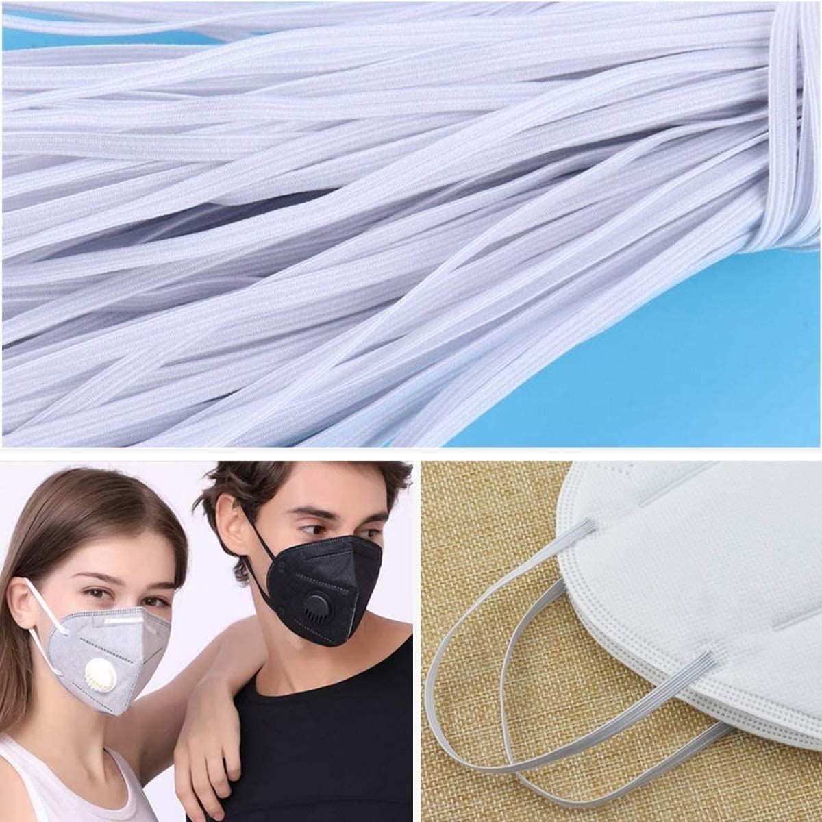 Rubber Band High Elasticity Home Textile Shrink Resistant Latex Free Accessories
