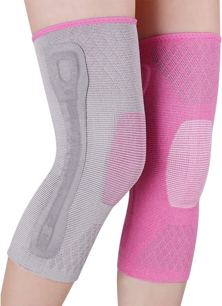 HUA BEI 膝パッド 暖かい膝パッドプロ半月板傷害膝パッド女性スポーツフィットネス膝プロテクター - 4サイズオプション @@ (サイズ さいず : M)  Medium