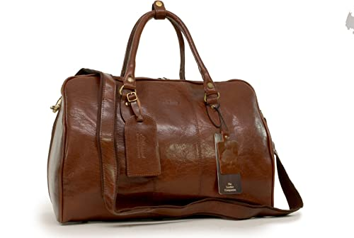 0fb204d5fe Ashwood Weekend Holdall Bag - Harry - Chestnut Brown Leather  Amazon.co.uk   Luggage