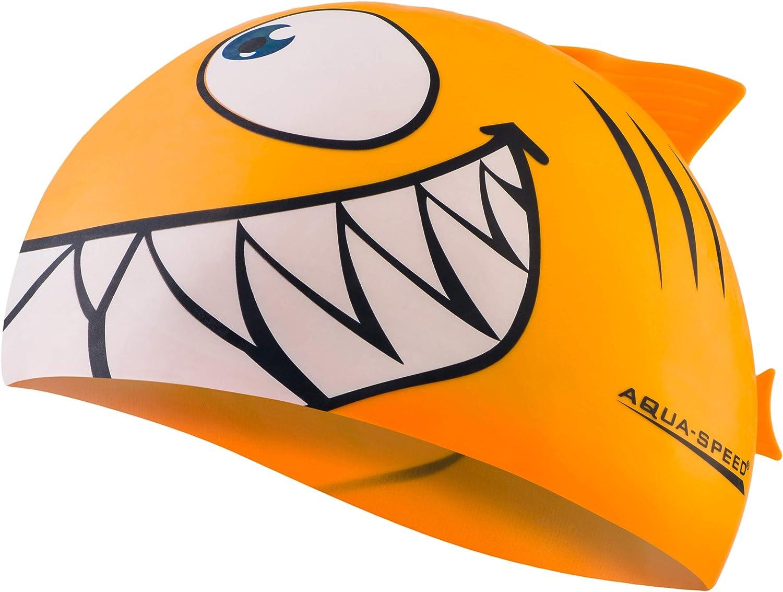 Tibur/ón Aqua Speed SHARK Ni/ños Gorro de ba/ño 100/% Silicona