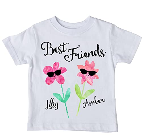 T Shirt Flower Your Name Personalised Customize Ladies T-Shirt Top Tee