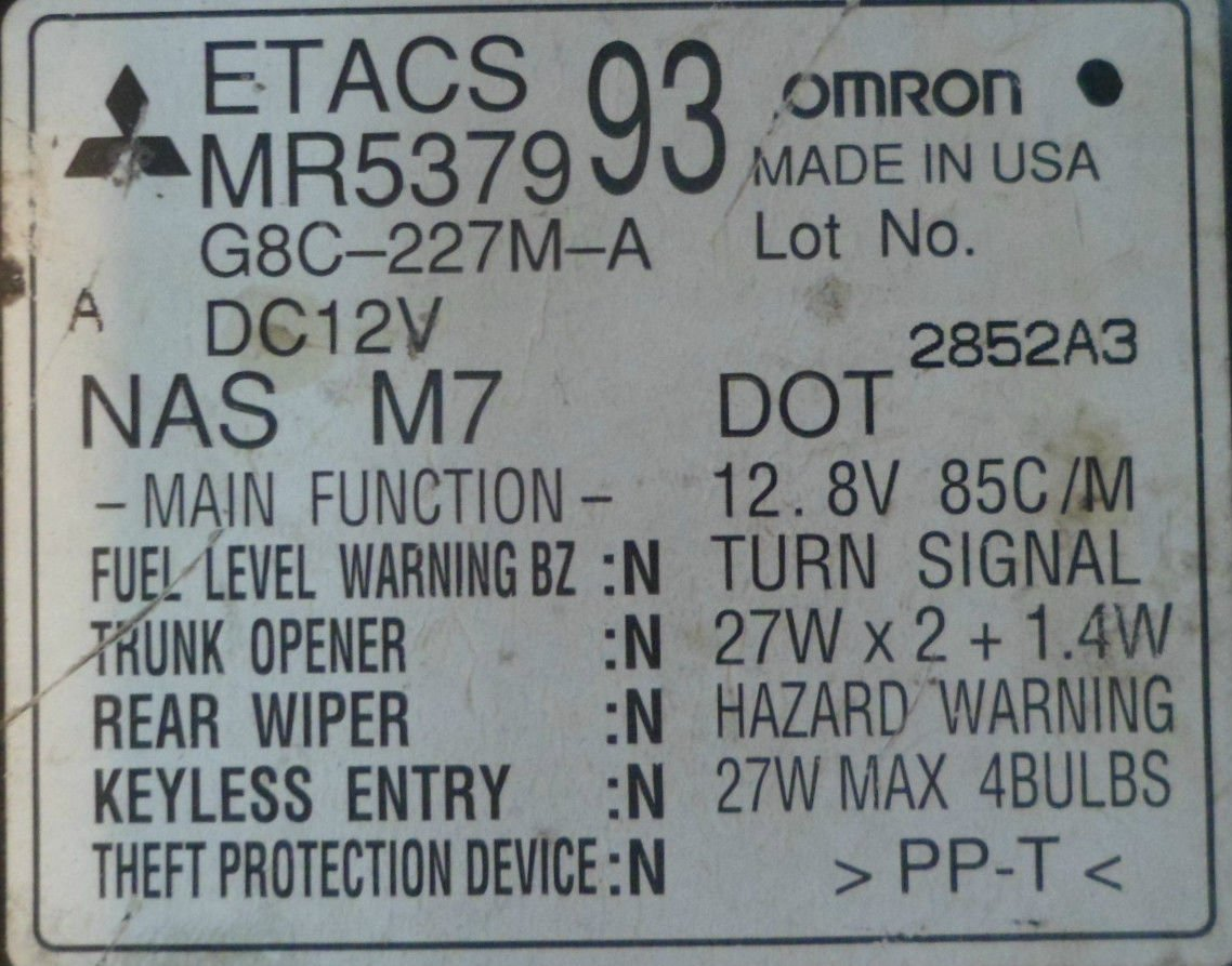 OE 02 03 Mitsubishi Eclipse Robo bloqueo trasero Limpiaparabrisas Control del Relé MODULE- 61685: Amazon.es: Coche y moto