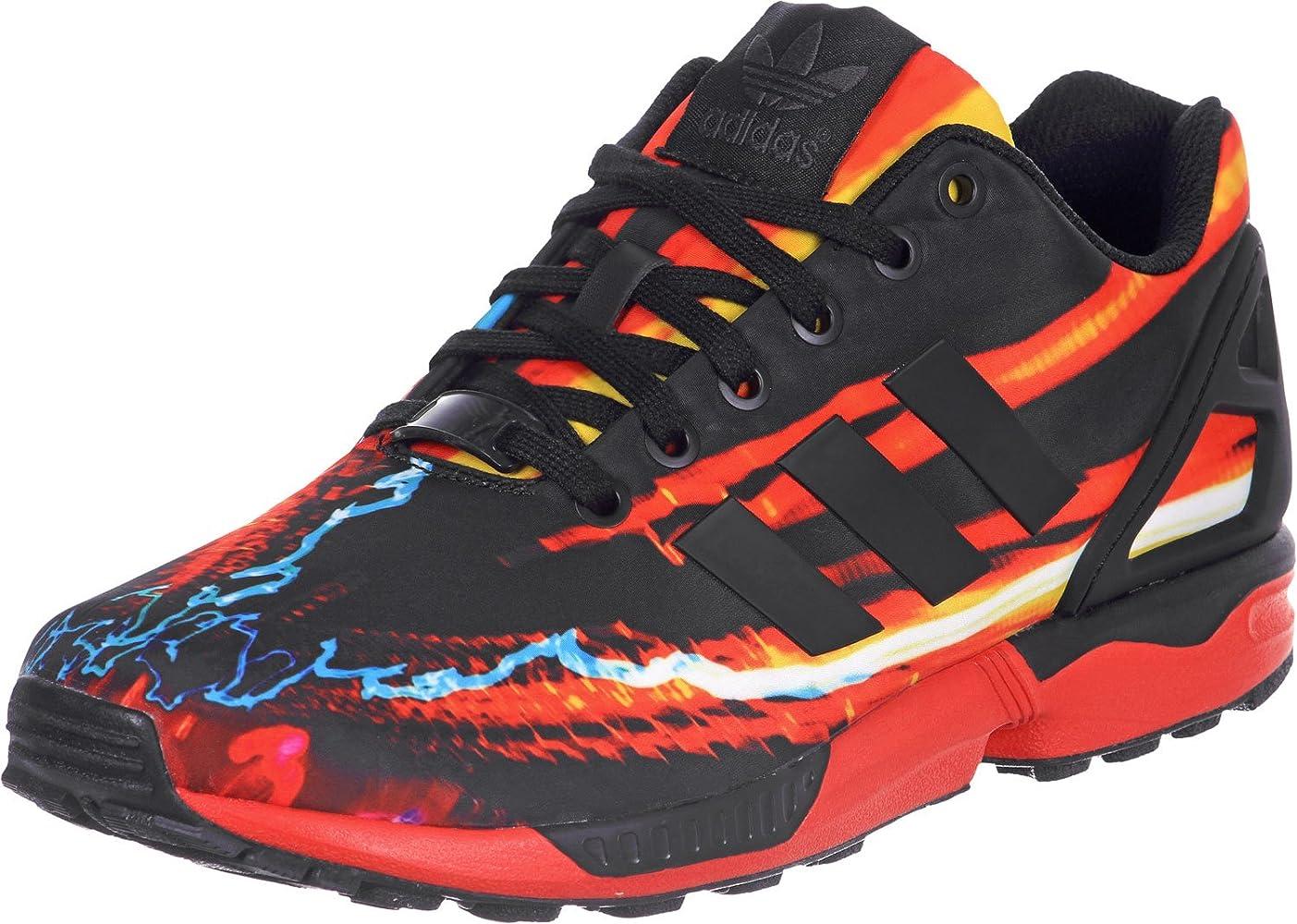 chaussures de séparation e5d1c 525fb adidas Basket ZX Flux Noir Multicolore B34140: Amazon.fr ...